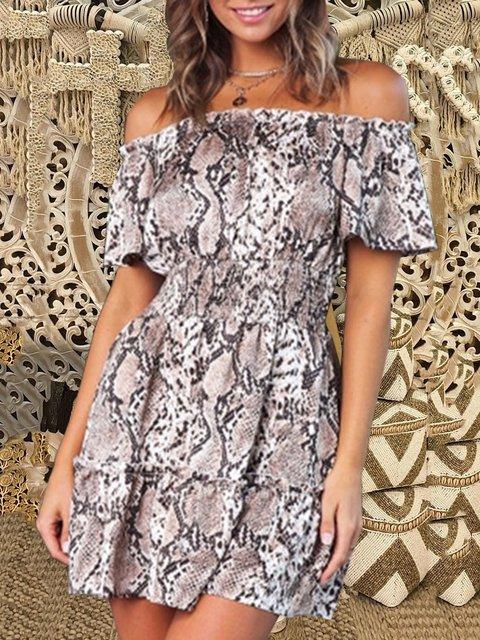 As Picture Short Sleeve Off Shoulder Dresses