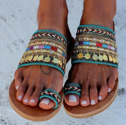 Blue Summer Denim Sandals