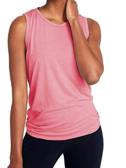 Women Solid Yoga Tank Sport Sleeveless Camisole