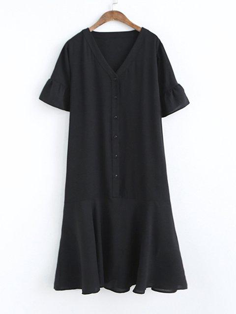 V Neck Women Dresses Cotton-Blend Dresses