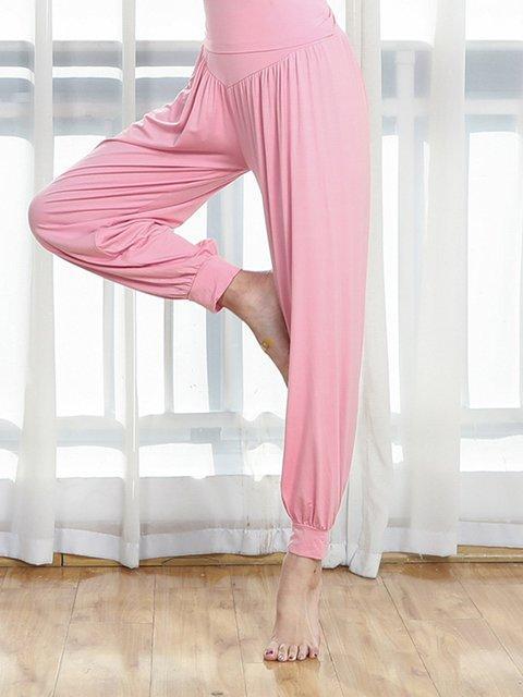 Yoga Solid Pants Women Sports Sweatpants
