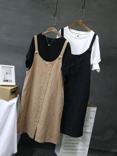 Sleeveless Linen Women Dresses