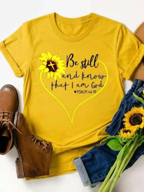 Sunflower Crew Neck Shirts & Tops