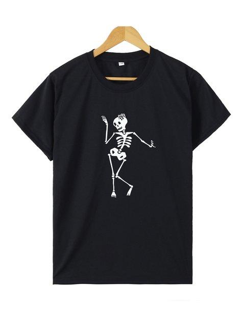 Skull Short Sleeve Shirts & Tops