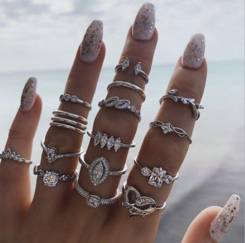 One Set Of 15 Vintage Rings