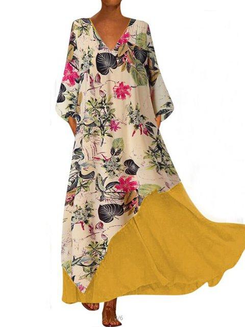 Long Sleeve Casual Cotton-Blend Dresses