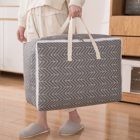 cotton linen quilt storage bag washable dustproof mildew thickening moving bag