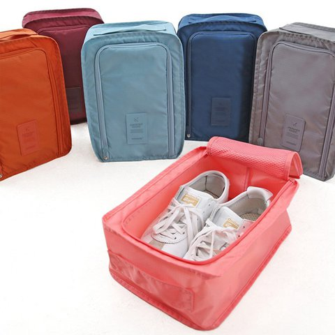 Waterproof foldable shoe box