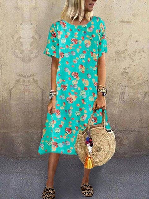 Floral Casual Linen Dresses