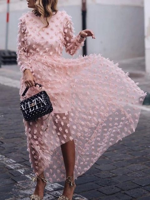 Pink Holiday Cotton Dresses