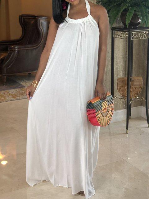 Bohemian Loose Floor-Length Dress