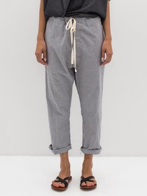 Solid Pants Women Trousers