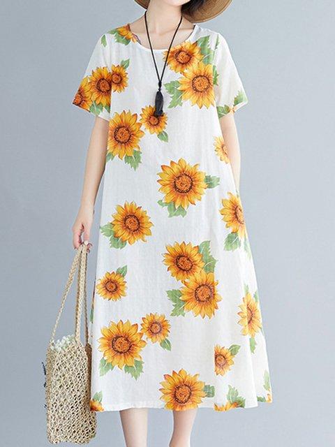 Sunflower Women Dresses Plants Dresses