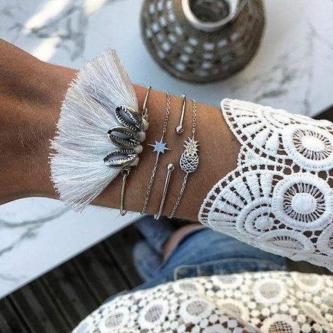 White Vintage Alloy Bracelets