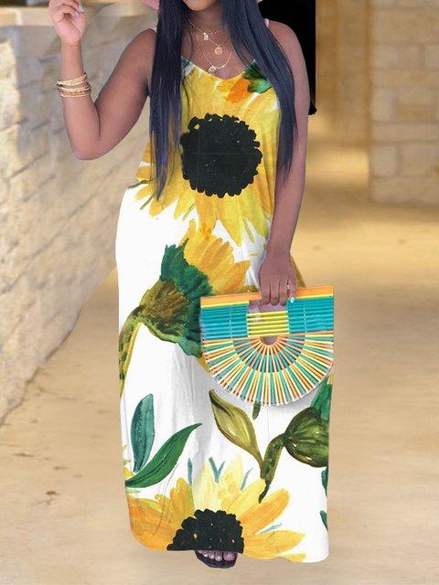 Sunflower Sling Bohemian Maxi Dress
