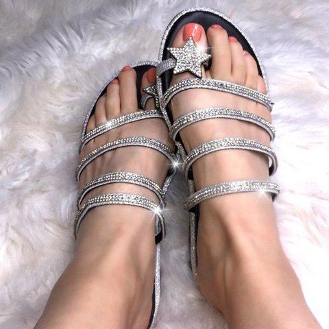 Women Star Shining Slip-on Sandal