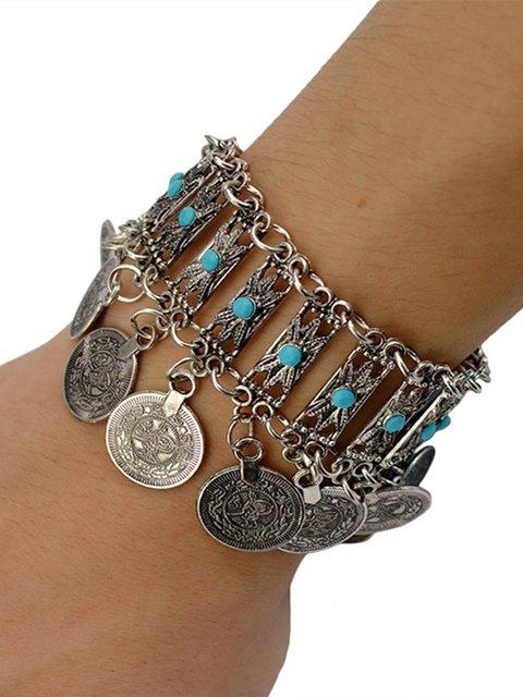 Vintage Coin Tassel Bracelet Ethnic Turquoise Bracelet