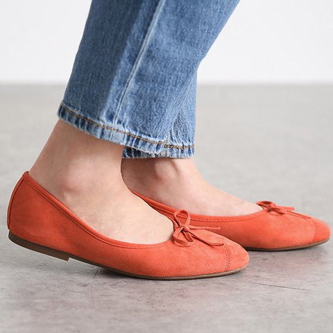 Women Round Toe Bowknot Daily Flat Heel All Season Flats