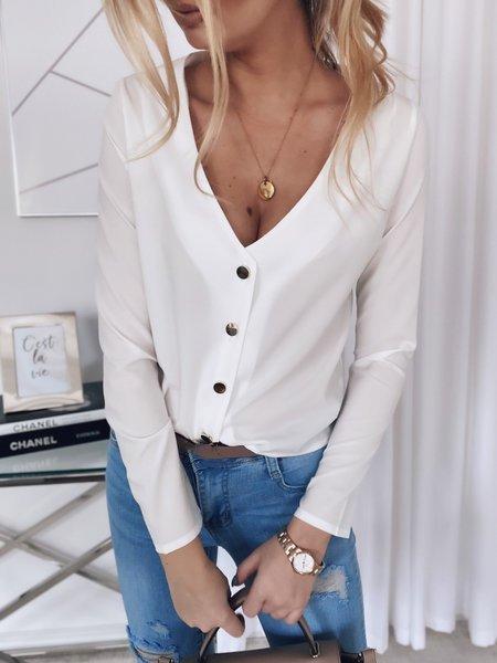 Casual V Neck Shift Shirts & Tops