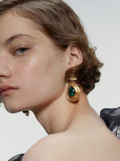 Women Alloy Earrings