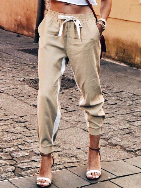 Khaki Casual Cotton Pants