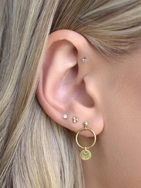 Women Alloy A Set Earrings