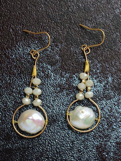 Women Alloy Preal Drop Earrings