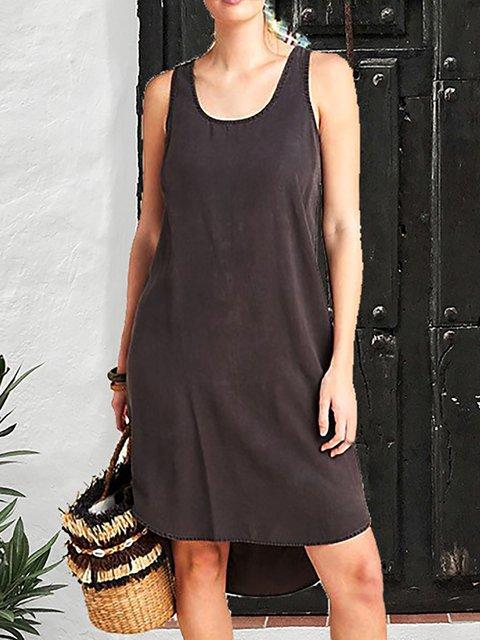 Simple Style Casual U-neck Dress