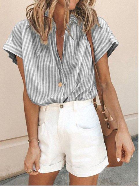 Casual Short Sleeve Tops
