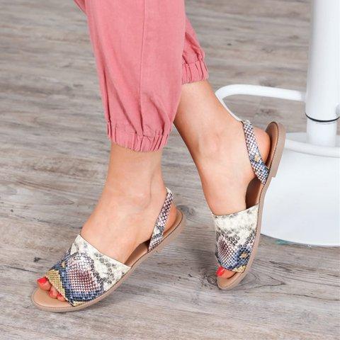 Casual Summer  Slip-On Back Slides Sandals