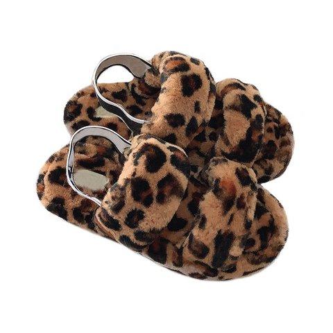 Faux Fur Flat Heel All Season Sandals