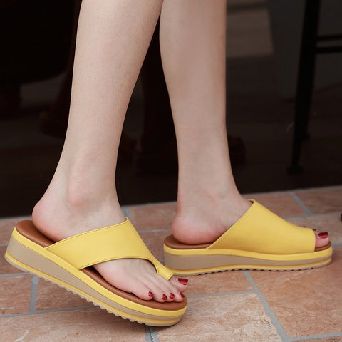 Solid Daily Pu Sandals