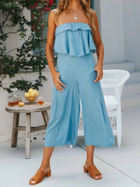 Leisure Sexy Topless Backless Jumpsuit