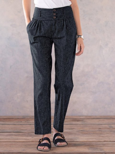Striped Casual Women Pants