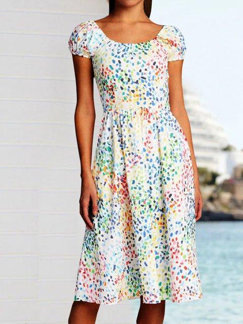 Sunmer  Floral-Print Plus Size Women Dresses