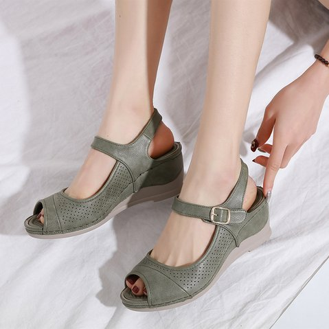 Pu Hollow-Out Sandals