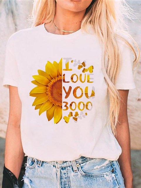 Shift Casual Floral Short Sleeve Shirts & Tops