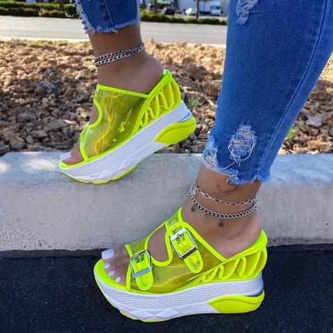 Women Comfy  Platform Slip-on Summer Slippers