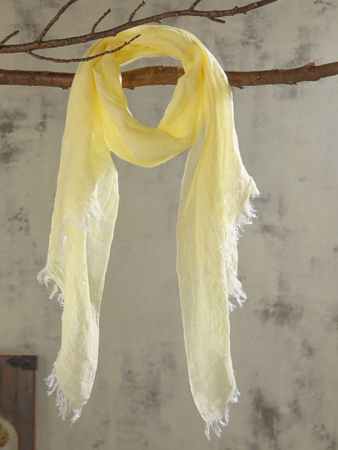 Fashionable monochrome linen scarf solid color wild new scarf spring and summer thin sunscreen shawl