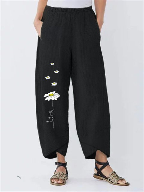 Cotton Printed Casual Pants