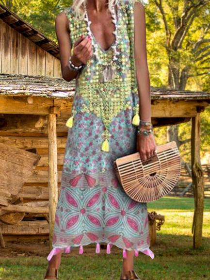 Multicolor Boho Shift Dresses