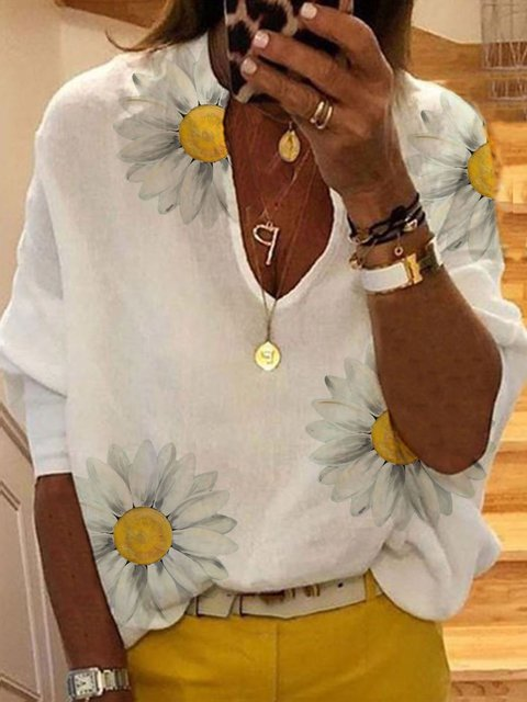 daisy Casual Cotton-Blend Shirts & Tops
