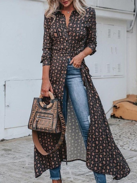 As Picture Floral-Print Long Sleeve Shirts & Tops