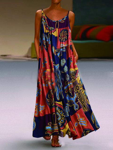 Cotton-Blend Casual Dresses