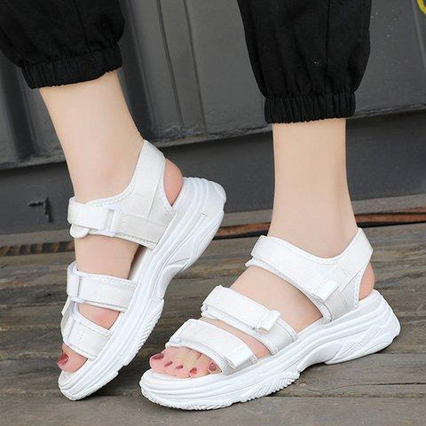 Women Magic Tape Casual Pu Date Sandals