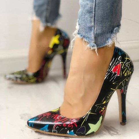 Flower High Heel Artificial Leather Date All Season Other Shoes