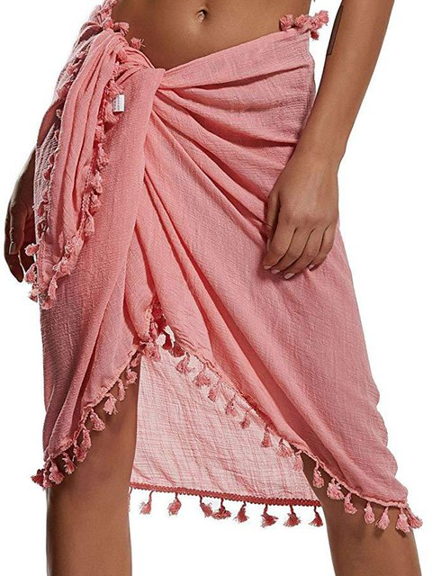 Fringed Skirt Various Wearing Bikini Tassel Covers