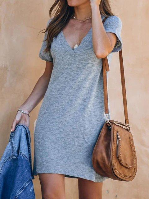 Casual Deep V-neck Dress