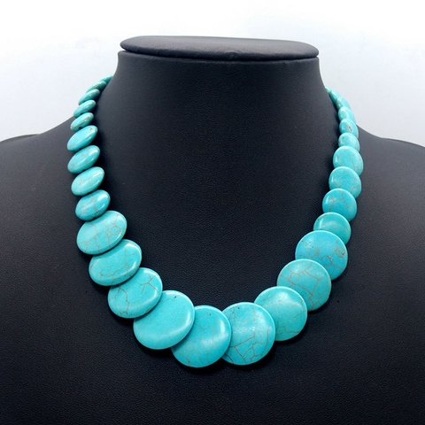 Blue Turquoise Vintage Tribal Necklaces