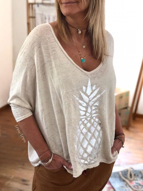 White Cotton Half Sleeve Shirts & Tops